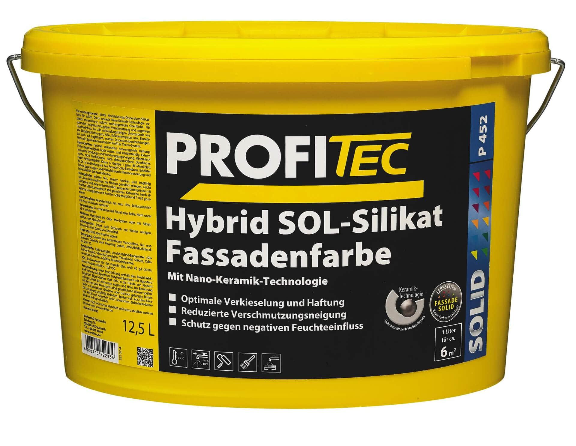 Hybrid SOL-Silikat Fassadenfarbe P 452
